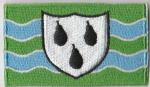 Worcestershire Embroidered Flag Patch, style 04